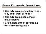 some economic questions1