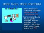 more taxes more protests