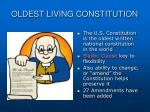 oldest living constitution