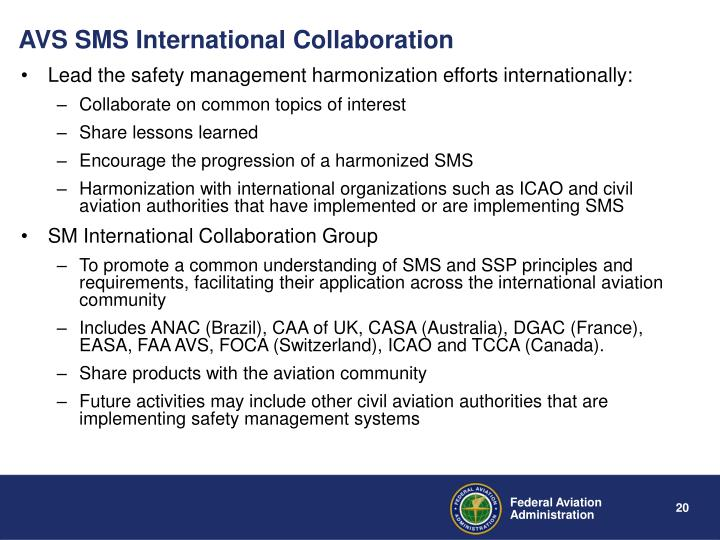 AVS SMS International Collaboration