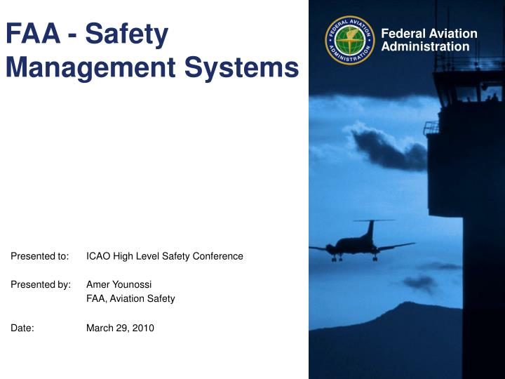 Faa safety management systems