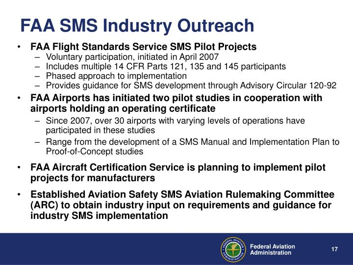 FAA SMS Industry Outreach