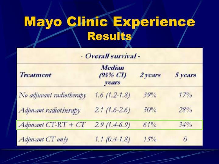 Mayo Clinic Experience
