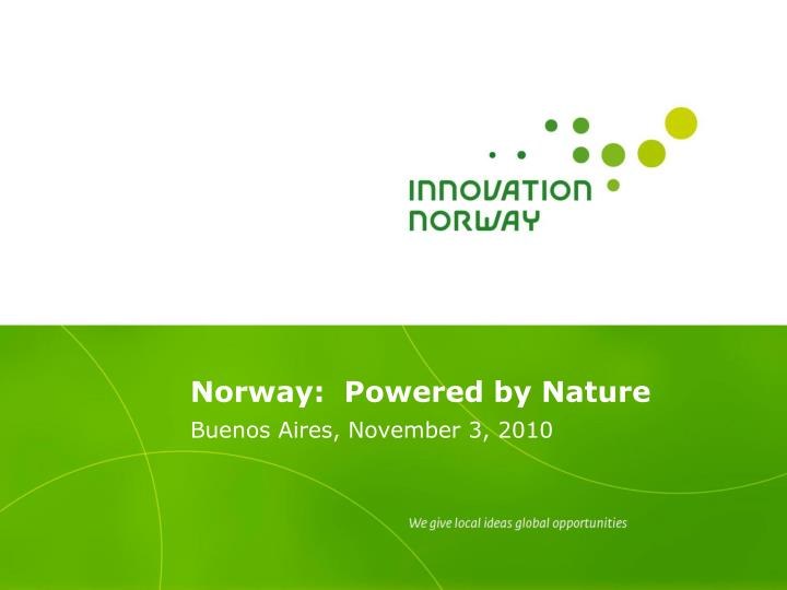 norway powered by nature n.