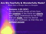 are we fearfully wonderfully made where there is design there is a designer11