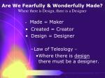 are we fearfully wonderfully made where there is design there is a designer12