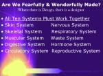 are we fearfully wonderfully made where there is design there is a designer18