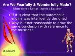 are we fearfully wonderfully made where there is design there is a designer48