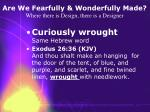 are we fearfully wonderfully made where there is design there is a designer7