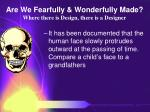 are we fearfully wonderfully made where there is design there is a designer73