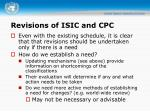 revisions of isic and cpc2