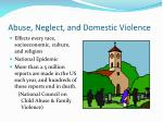 abuse neglect and domestic violence