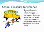 school exposure to violence
