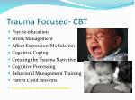 trauma focused cbt