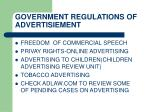 government regulations of advertisiement