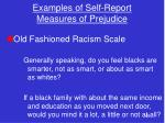 examples of self report measures of prejudice
