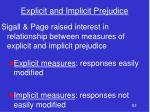 explicit and implicit prejudice