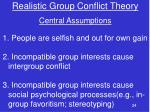 realistic group conflict theory1