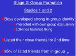 stage 2 group formation