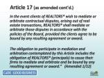 article 17 as amended cont d