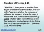 standard of practice 1 15