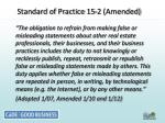 standard of practice 15 2 amended