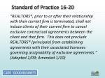 standard of practice 16 20