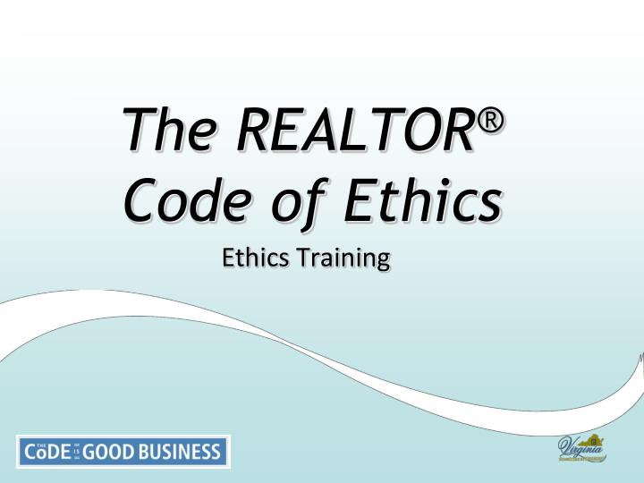 the realtor code of ethics n.