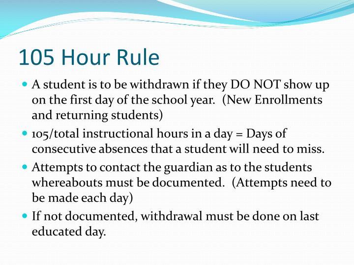 105 Hour Rule