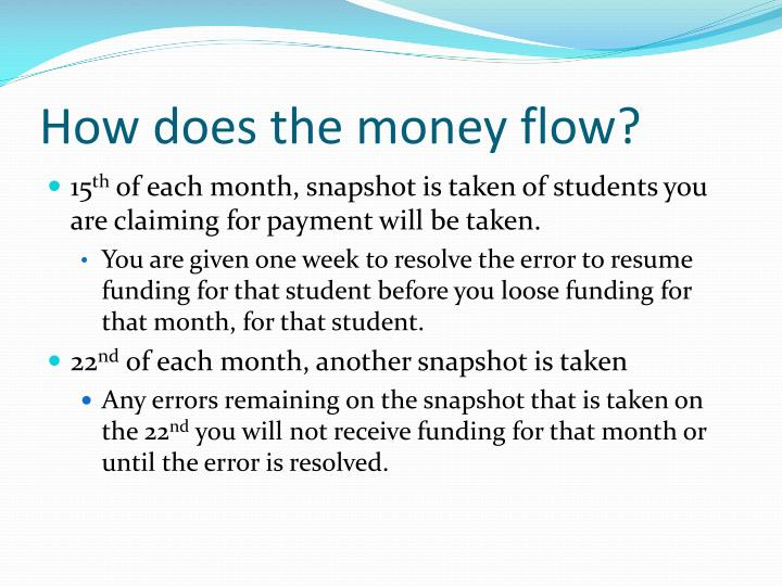 How does the money flow?