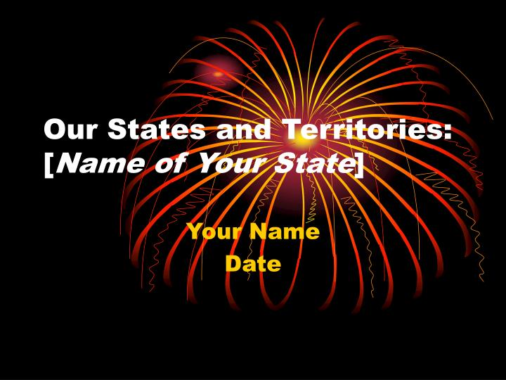 our states and territories name of your state n.
