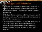 2 mergers and takeovers