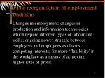 4 the reorganisation of employment conditions