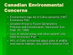canadian environmental concerns