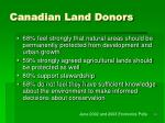 canadian land donors