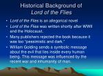 historical background of lord of the flies