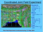 coordinated joint field experiment
