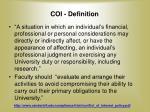coi definition