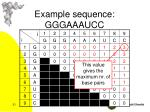 example sequence gggaaaucc2