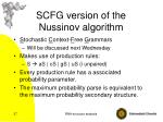scfg version of the nussinov algorithm