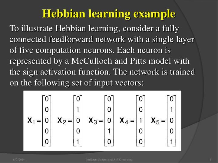 Hebbian learning example