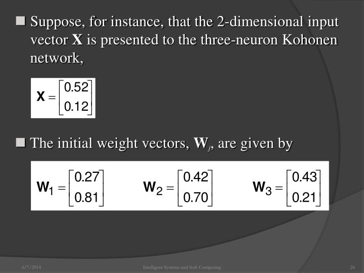 Suppose, for instance, that the 2-dimensional input vector