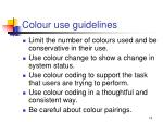 colour use guidelines