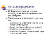 the ui design process
