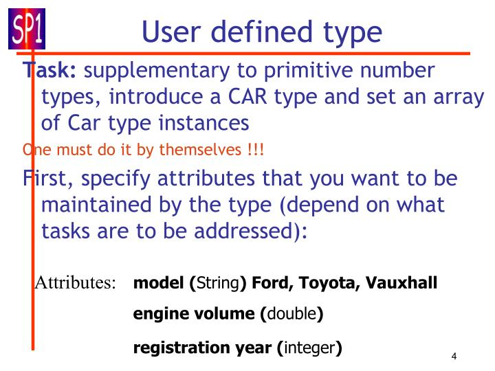 User defined type