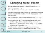changing output stream
