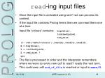 read ing input files