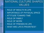 national culture shapes values1