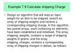 example 7 9 calculate shipping charge