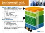 event management is part of business service management